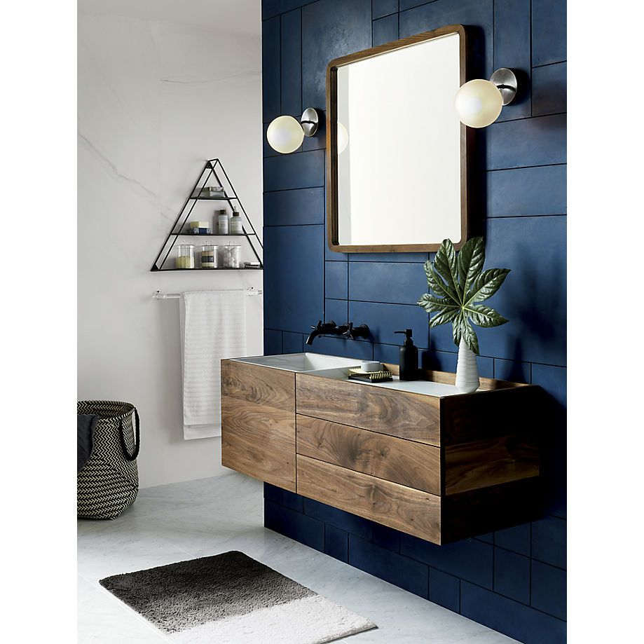 Contemporary Neutral Bathroom With Dark Wood Accents: Vega Bath 1 Bulb Black Nickel Wall Sconce In 2019