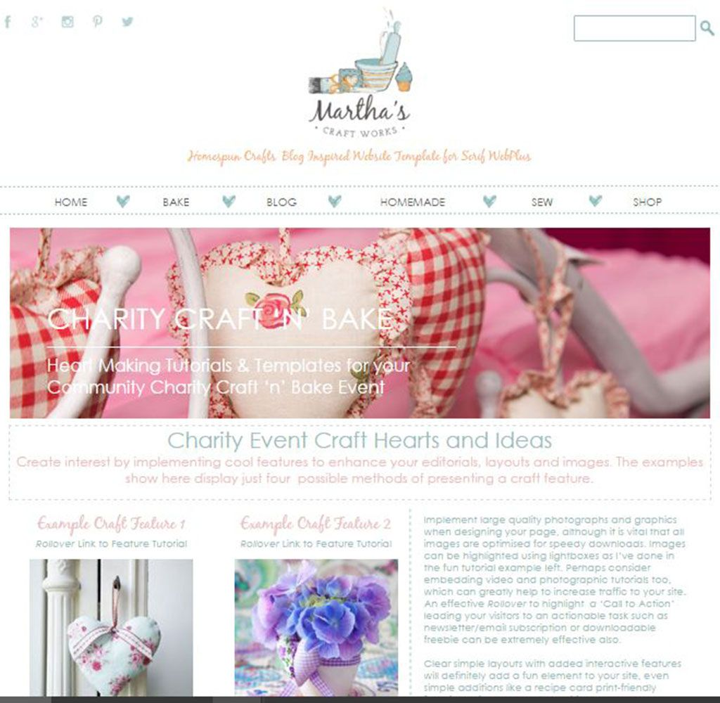 Martha\'s Craft Works Template Sample Craft Feature Page | Templates ...