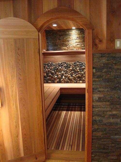 Sauna Project By Artom Bugo At Coroflot Com: Custom Indoor Sauna. I Like The Combination Of Stone And