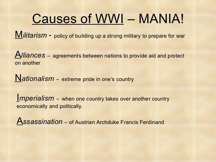World War I Power Point Teaching Inspiration Cause And Effect Essay Of The First