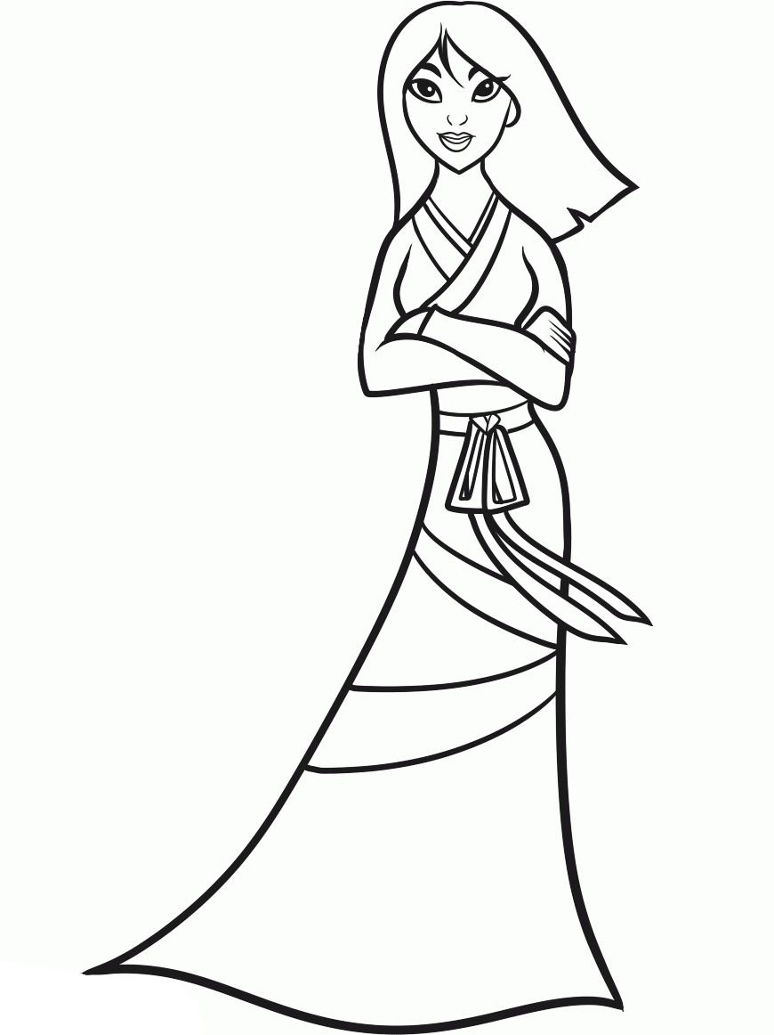 Princess Mulan Is Beatifull And Interesting Style Coloring ...