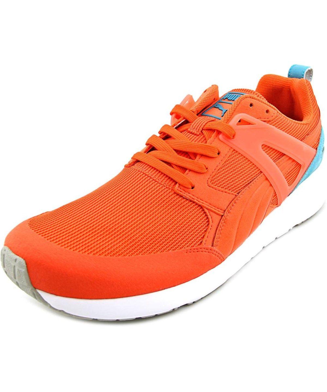 Puma Arial Men Round Toe Canvas Orange Sneakers  5SFK9UCV9