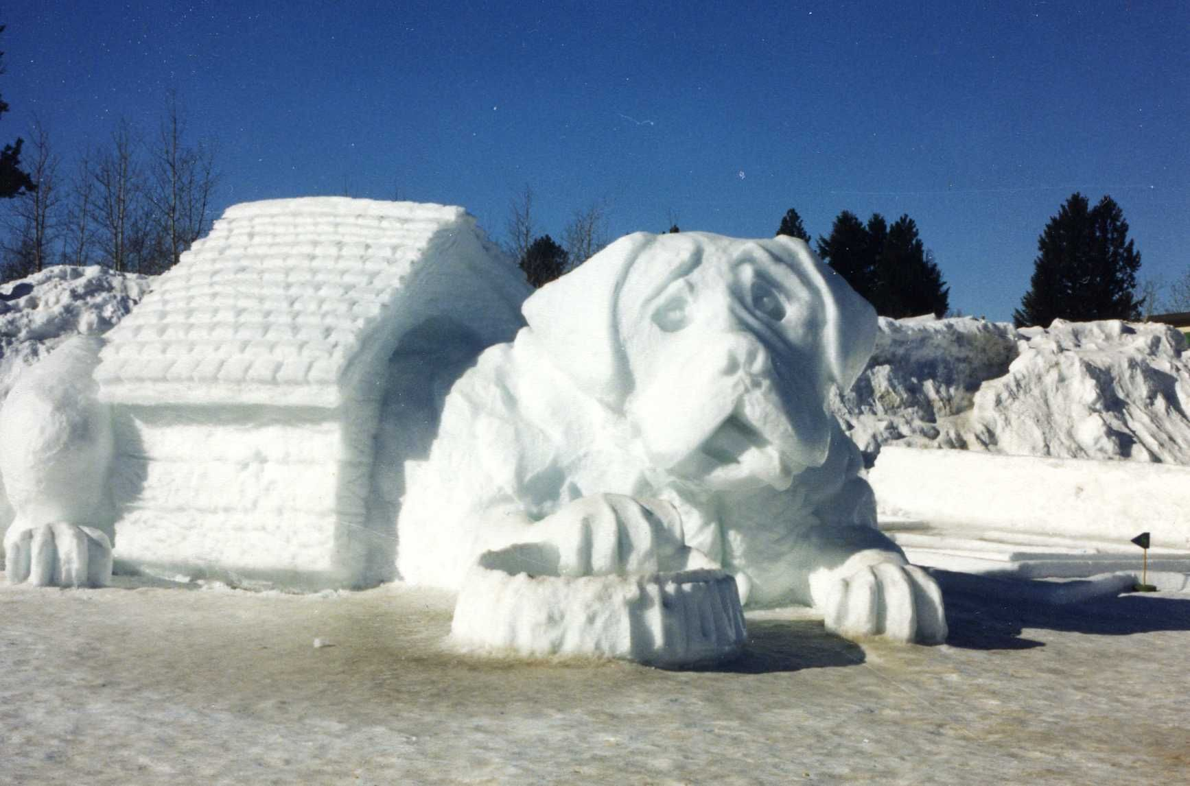 Fairy Ice Sculptures | Another one of McCall\'s ice sculptures | Snow ...