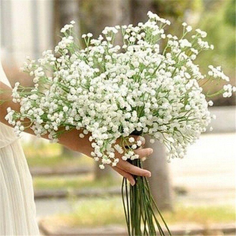1 Head Romantic Baby S Breath Gypsophila Silk Flower Party Wedding Home Decor Happymall2013us Silk Flowers Wedding Gypsophila Wedding Wedding Party Bouquets