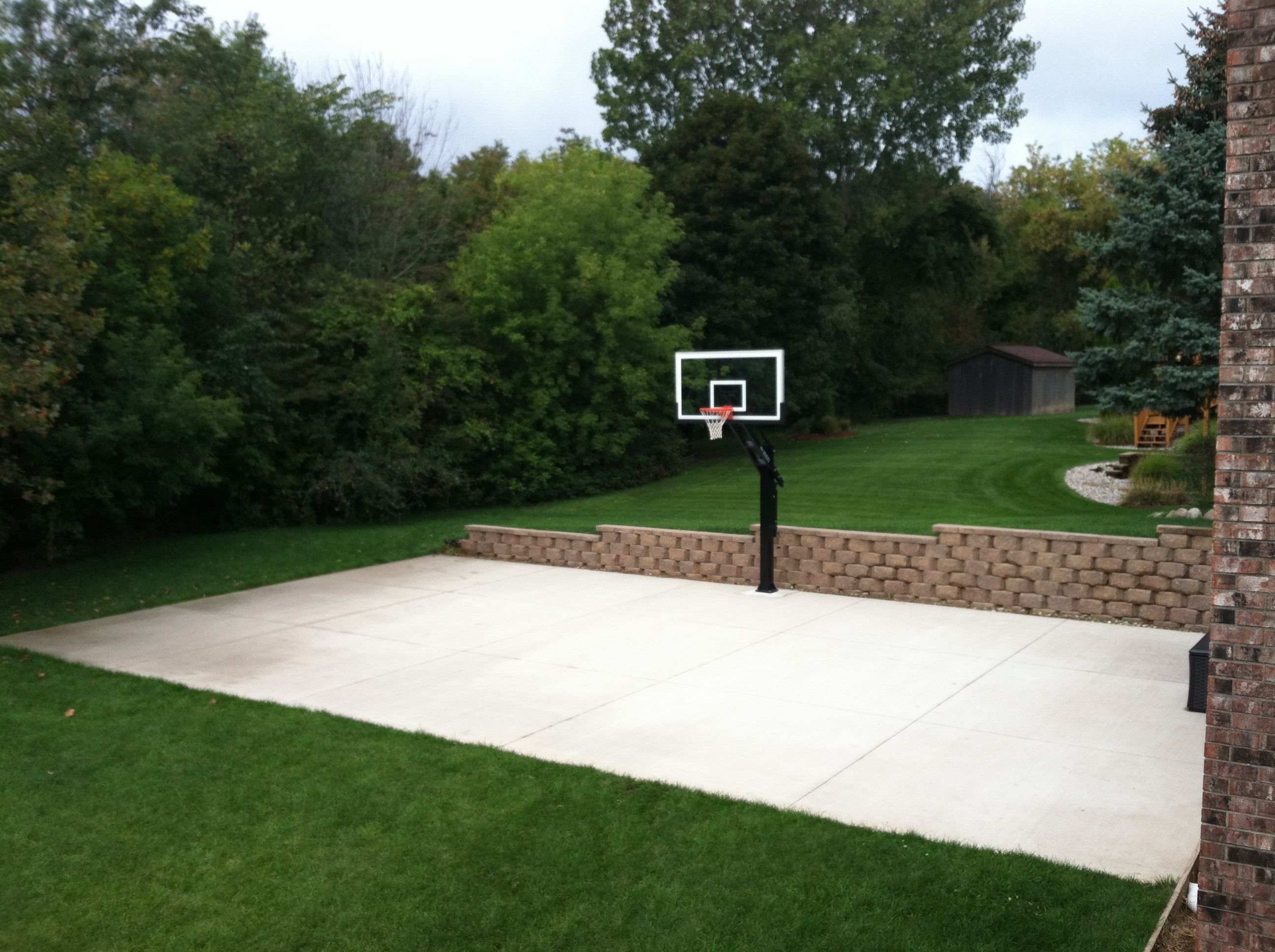 Backyard basketball court cost the cost of a backyard Cost to build basketball court