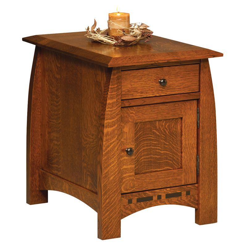 Boulder Creek Enclosed End Table Shipshewana Furniture