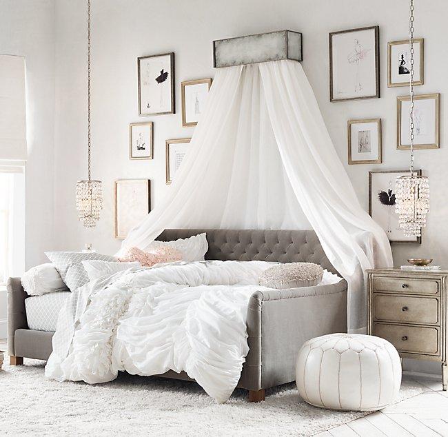 Sheer Belgian Linen Bed Canopy Panels Set Of 2 In 2020 Comfortable Bedroom Modern Bedroom Design Bed Linen Design