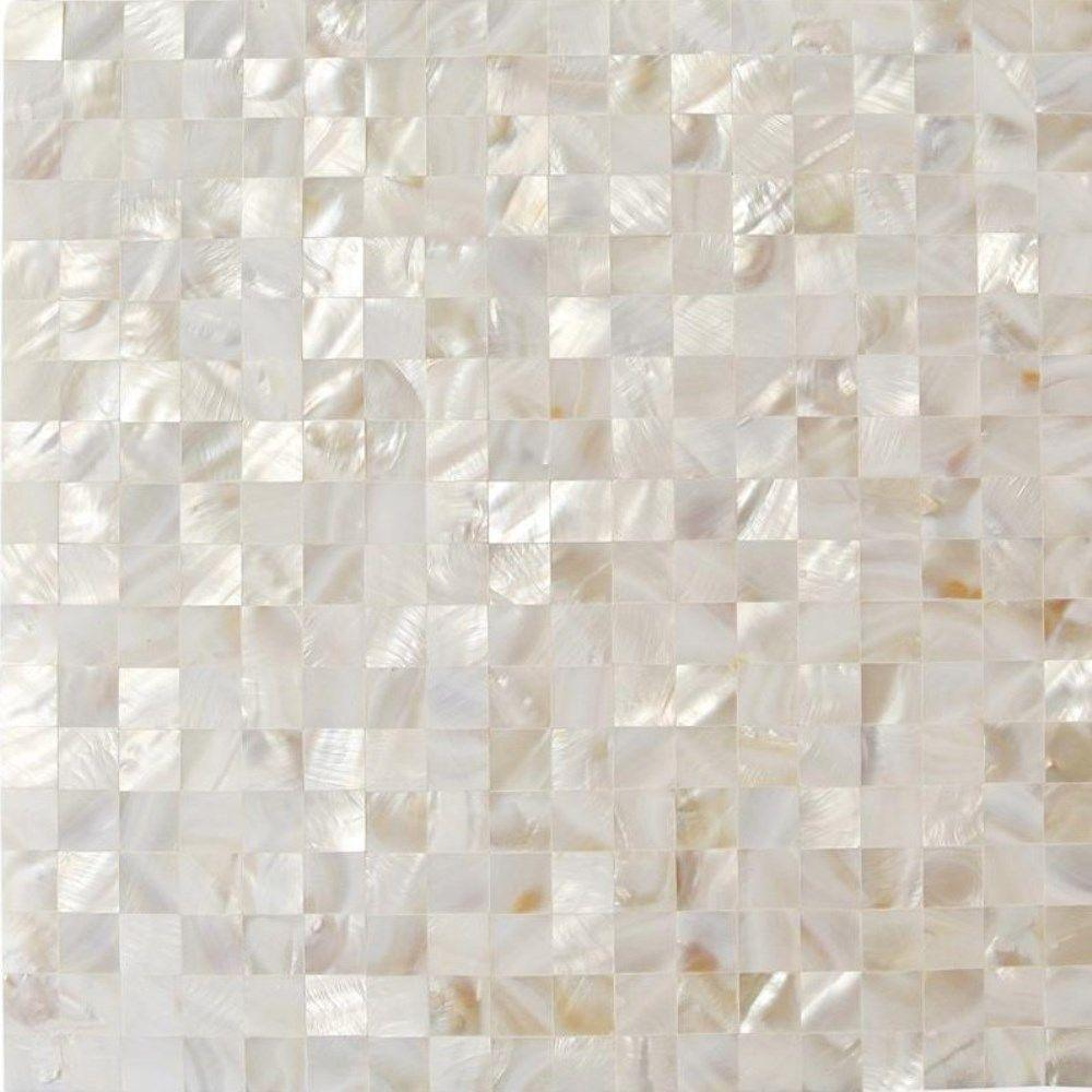Ivy Hill Tile Mother Of Pearl White Square Pearl Shell Mosaic