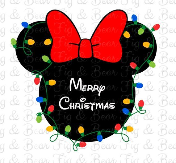 Disney Merry Christmas Minnie Mouse Iron On Transfer Decal