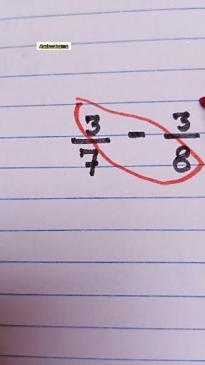 Subtraction of fraction (different denominator)