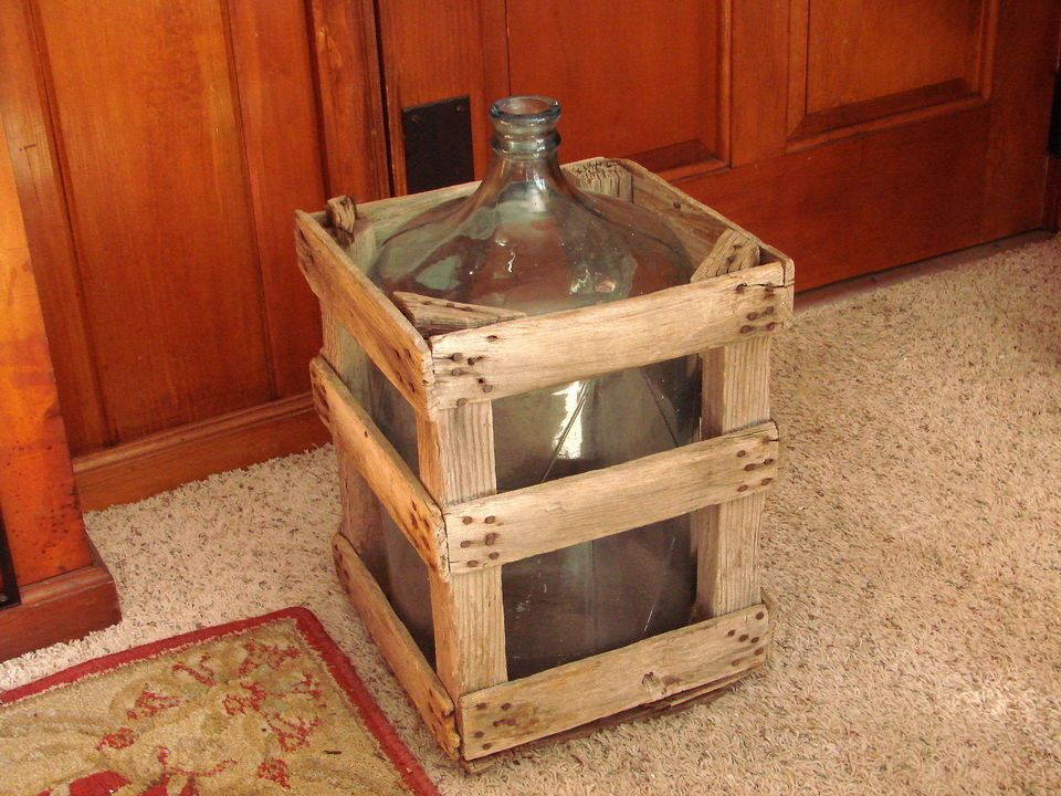 Vtg Yosemite Water Co Fresno Cooler Bottle 5 Gallon Glass Jug