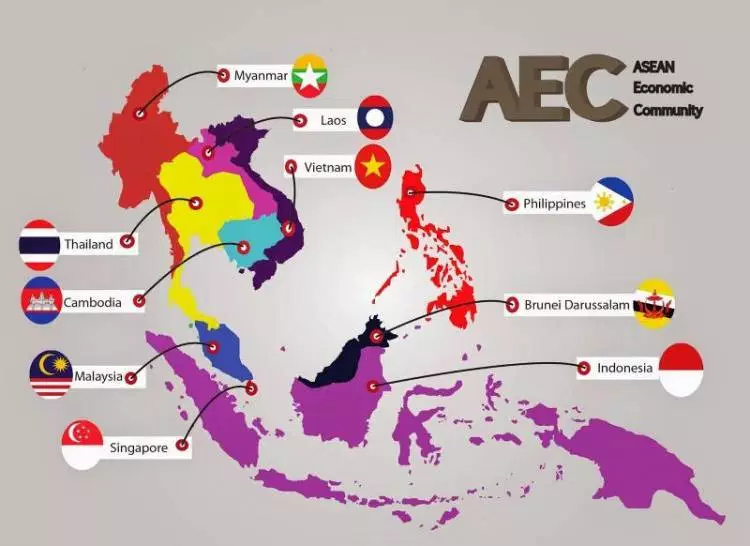 Peta Asean Lengkap, Beserta Negara Anggotanya RomaDecade