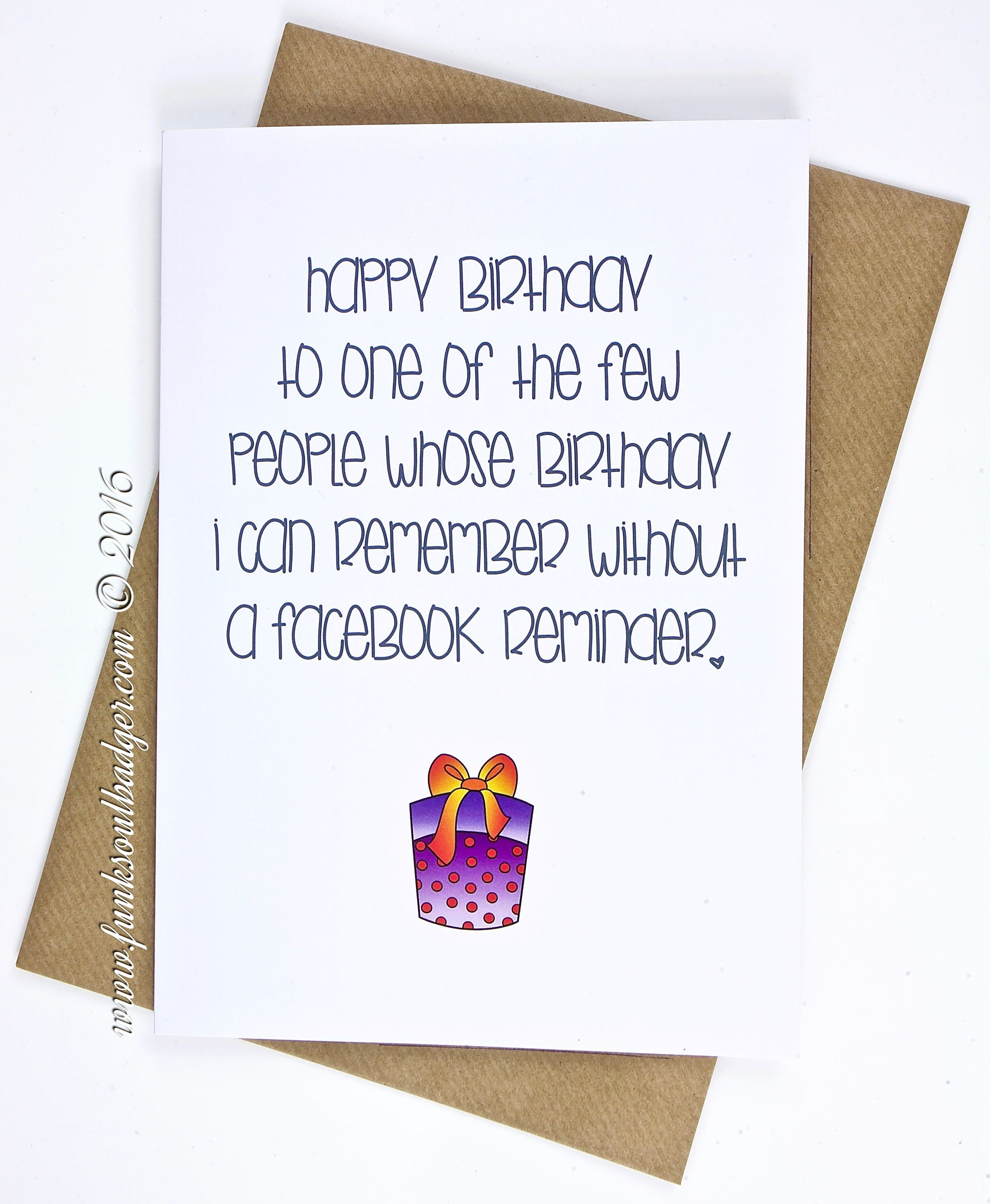Happy Birthday Of Course I Remembered Etsy Shop Funny Birthday Card Remember Without A Facebook Reminder Papergoods White Birthday Birthdaycards
