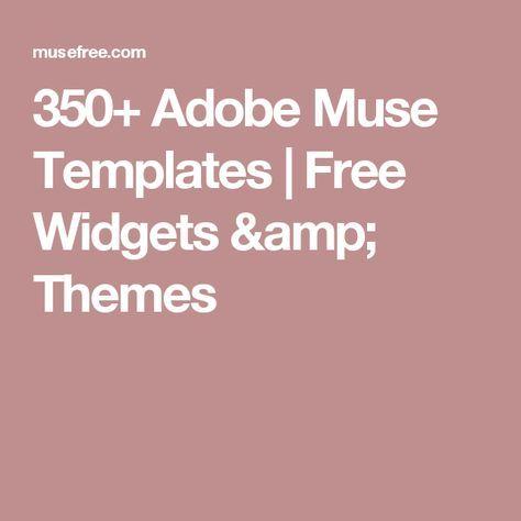 350 adobe muse templates free widgets themes