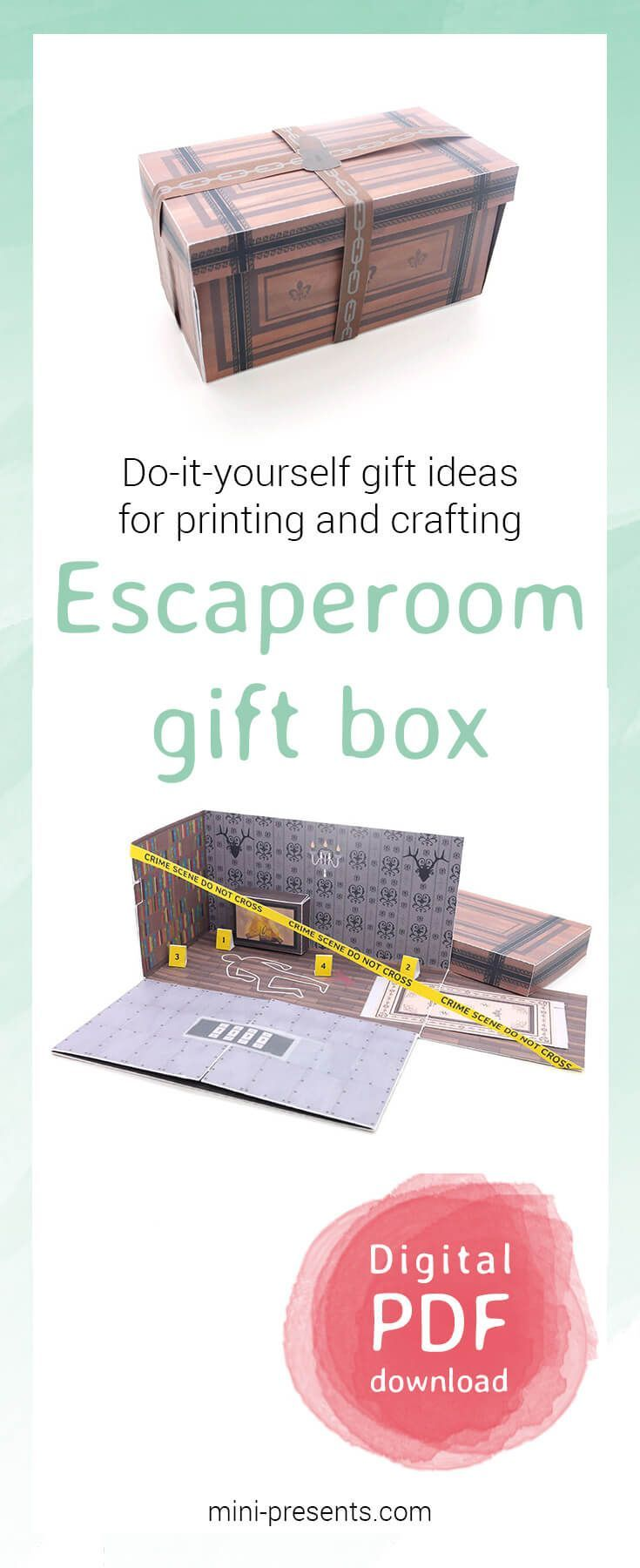 Do it yourself escaperoom gift box as a voucher pinterest box do it yourself escaperoom gift box as a voucher pinterest box craft and gift solutioingenieria Image collections
