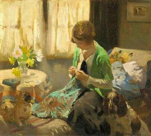 Dorothy Adamson (1894 - 1934)  Summer sewing