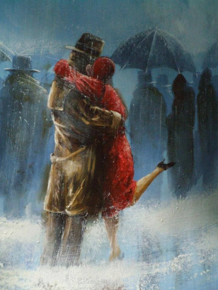 """""""Let it Rain"""" - You Tube - Click to see rainy day paintings by Jeff Rowland, set to the music of a beautiful French song.  (Wish I knew the words.  It sounds so sad.)"""