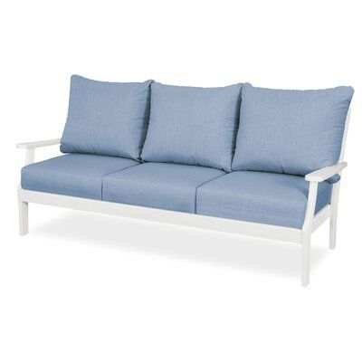 Patio Sofa With Sunbrella Cushions