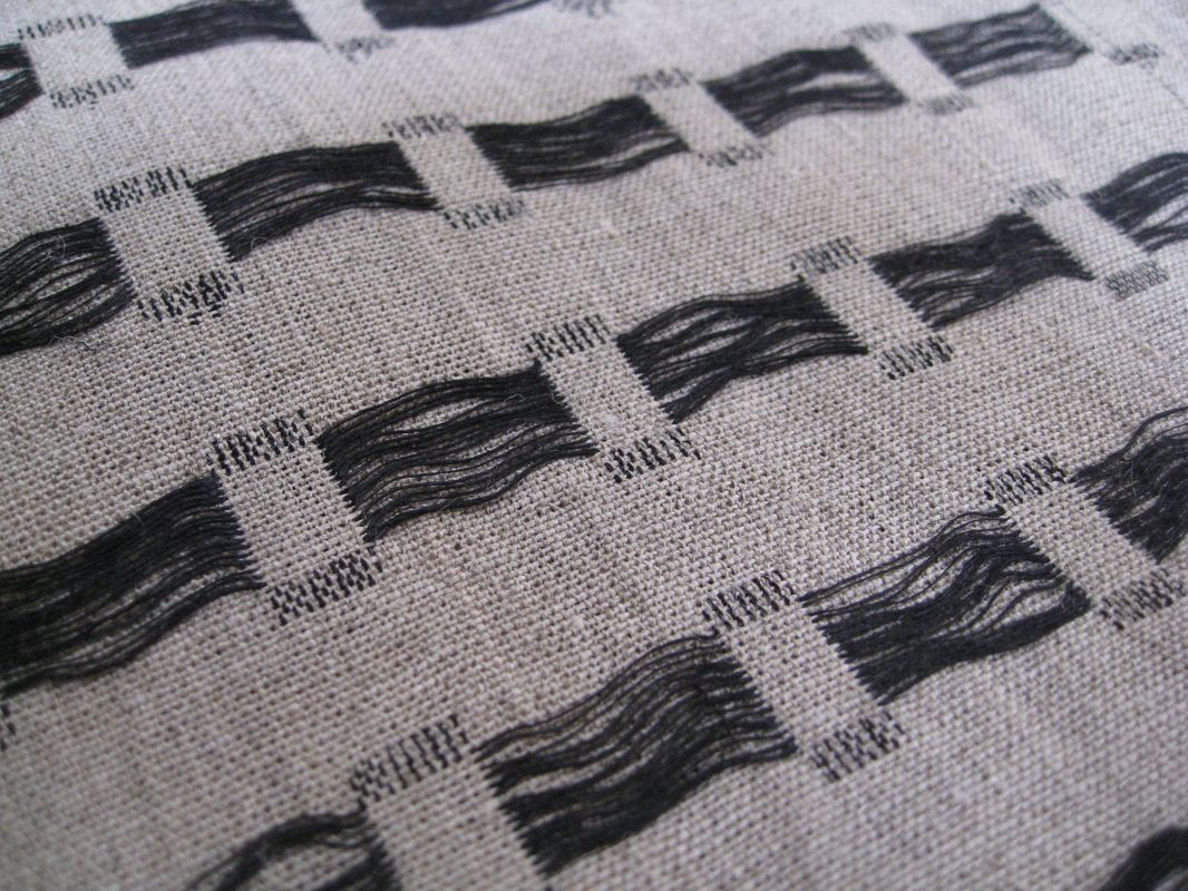 Weaving - hand woven textiles design with contrasting threads for ...