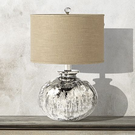 Marguerite large brass table lamp with natural shade arhaus furniture