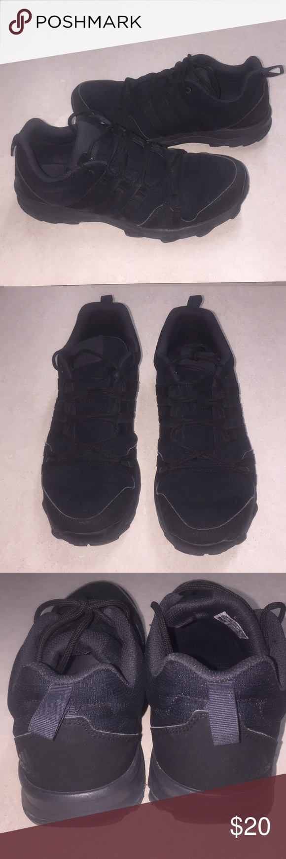 278509634362 ADIDAS TRAXION Terrex Tivid Sneaker (Men s) 9 1 2 ADIDAS TRAXION Terrex  Tivid Sneaker (Men s) 9 1 2. Great condition. EUC. Color is solid black  adidas Shoes ...