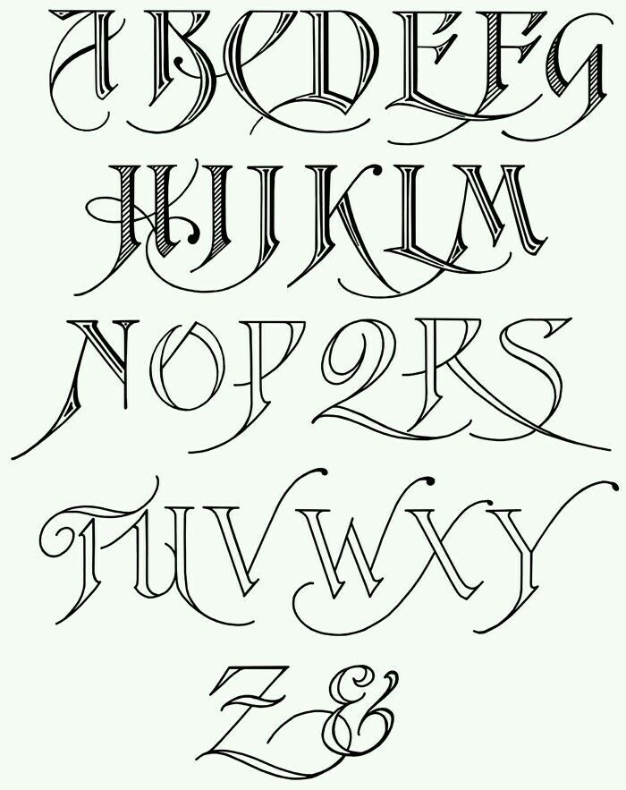 There Are Many Free Calligraphy Printable Alphabets Is Generally Divided Into Two Types Western Calli