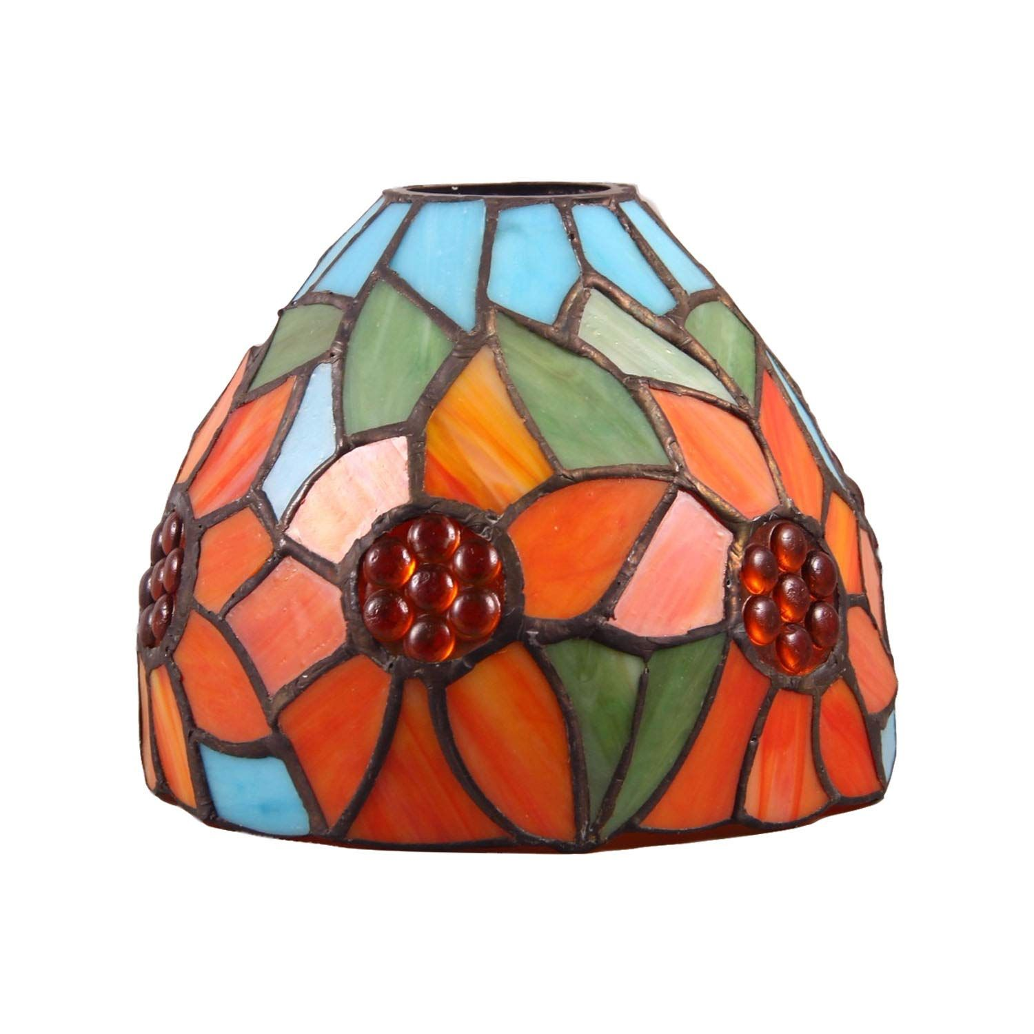 Kichi Tiffany Style Flower Stained Glass Replacement Table Lamp