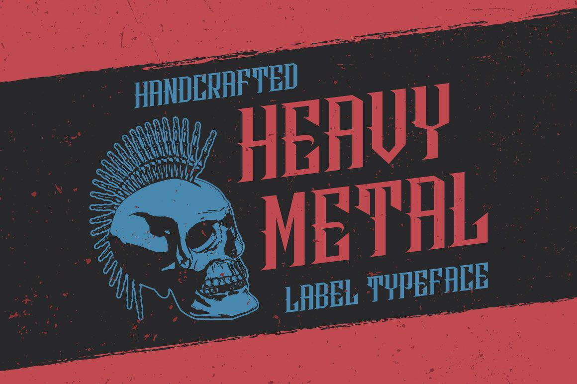 HeavyMetal Typeface by Vozzy on Creative Market