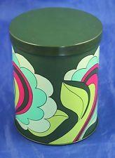 Alte 70er Jahre Blechdose Flower Power Space Age Kaffeedose 500 Gramm Dose grün