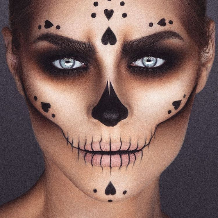 Halloween Make Up Skelet.Skull Candy Sugar Skull Makeup By Crazy Talented Mua