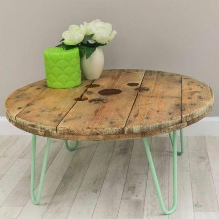 table avec un touret table basse touret charmant fabriquer une table de jardin avec un touret. Black Bedroom Furniture Sets. Home Design Ideas