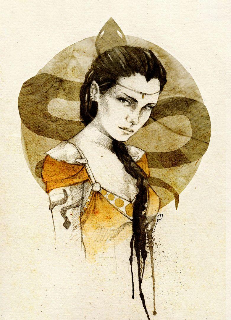 "Nymeria Sand by eliaillustration on deviantART. ""She wore"