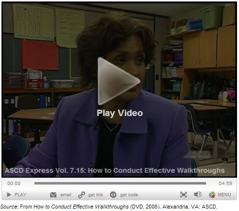 How to Conduct Effective Walkthroughs One way teachers can be held accountable and assessed is through observation. In this school, the principal is adamant about conducting classroom walkthroughs to know what is going on in her school. See how she interacts with teachers and students alike to collect data on how well her school is performing.