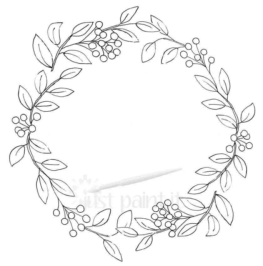 Fall Wreath Coloring Pages Kit - Just Paint It Blog ...
