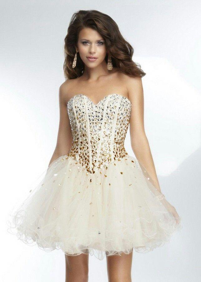 Gold prom dress 2016 | Kleider kleiner promis, Homecoming ...