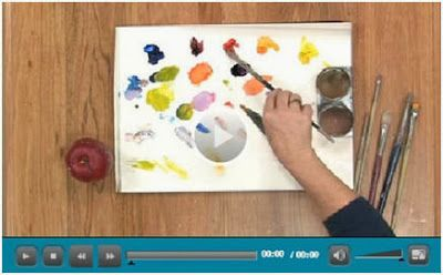 Free Color Theory Lessons – Artists, Photographers and Designers can choose from any of 15 how-to video demonstrations by the experts at Jerry's Artarama, and teach themselves about the color wheel, how to use complementary colors, how to set up a palette, how to mix paints and much more.  (Photo: Color Mixing Techniques by Nicole White Kennedy)