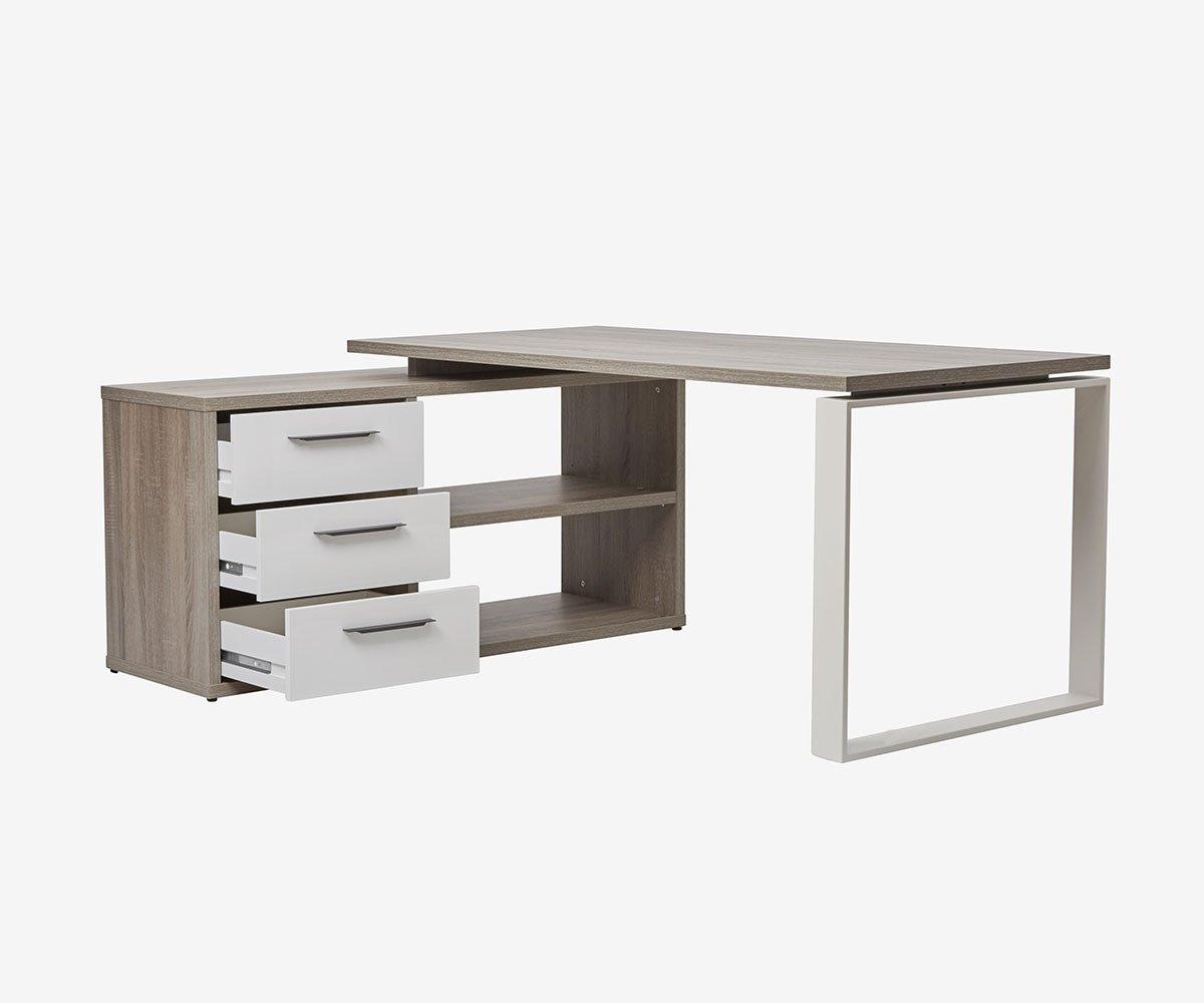 Gammel Desk With Reversible Storage Return Home Office Design Standing Desk Office Desk Home office desk with storage