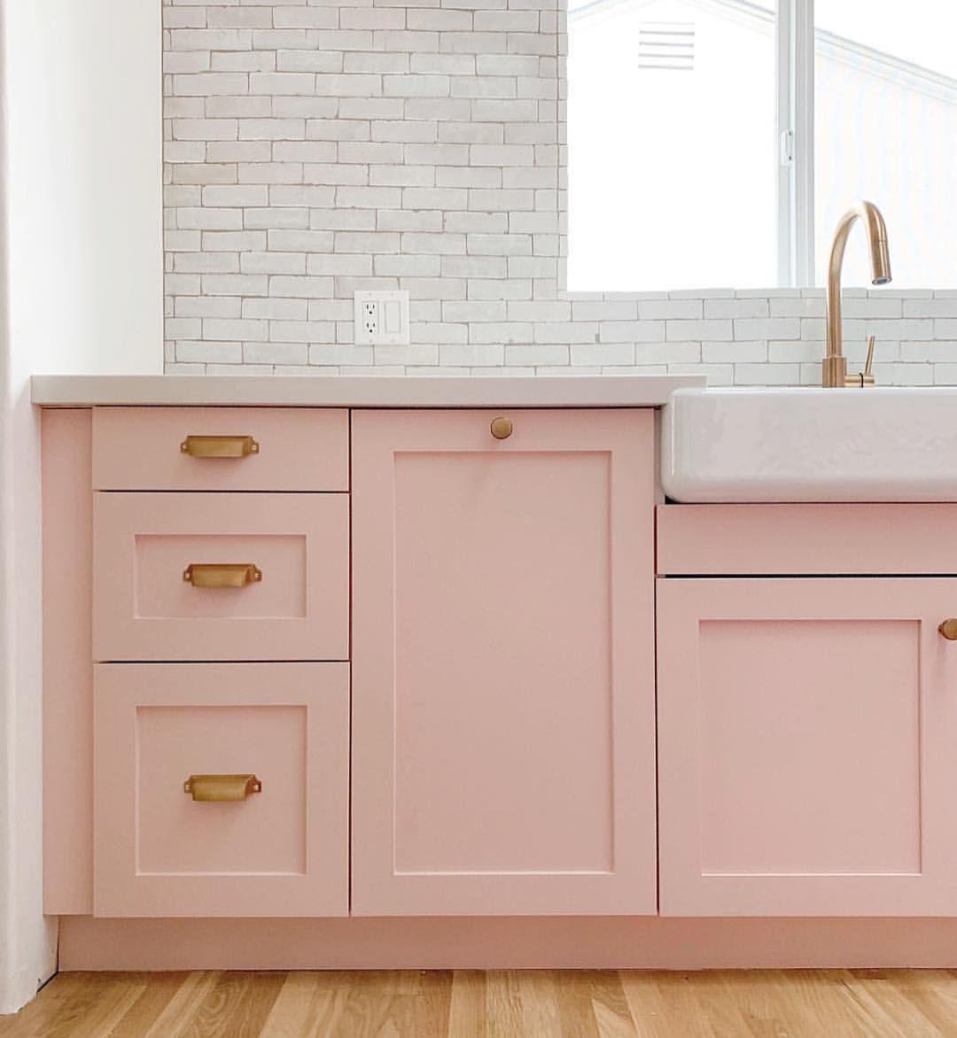 Pink Cabinets On White Kitchen Kitchen Pink Cabinets Coral Kitchen Pink Kitchen Cabinets
