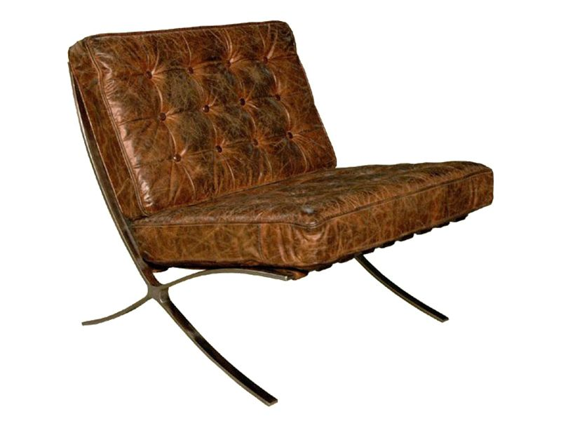 Classic Retro Stainless Steel Distressed Leather Chair Available From  Www.inadamfurniture.co.uk Amazing Pictures