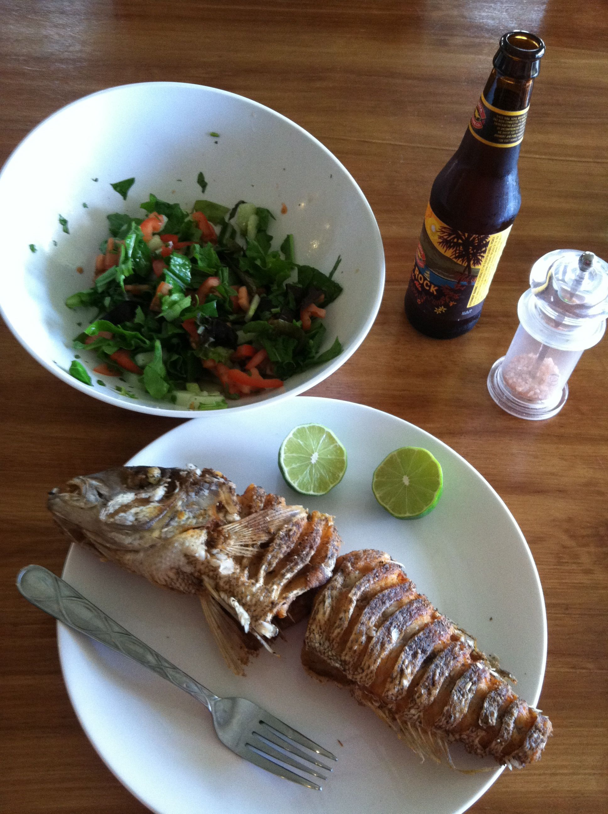 Costarrican style fried fish.