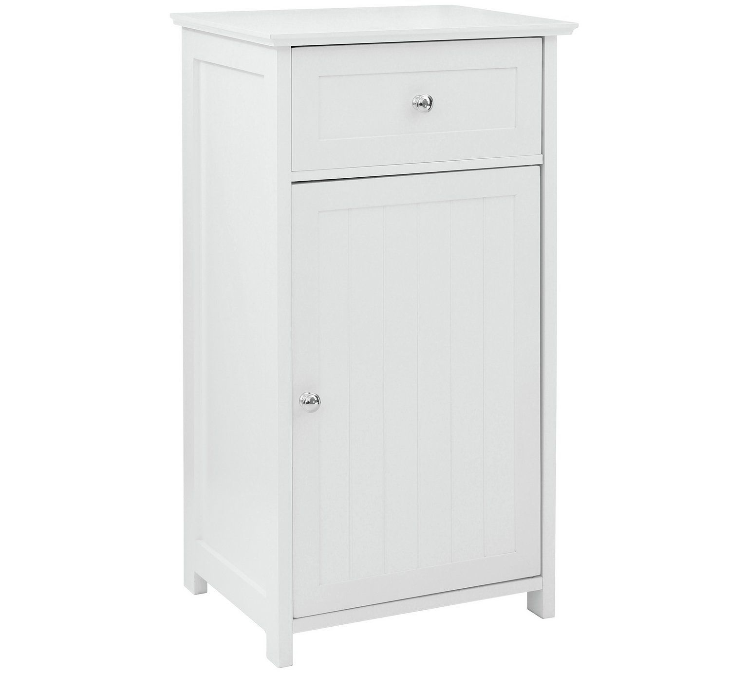 Buy premier housewares portland wooden cabinet with shelfwhite at