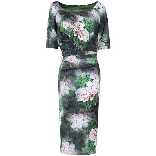 f1fbb2d0af8 Jolie Moi Floral Print Half Sleeve Dress
