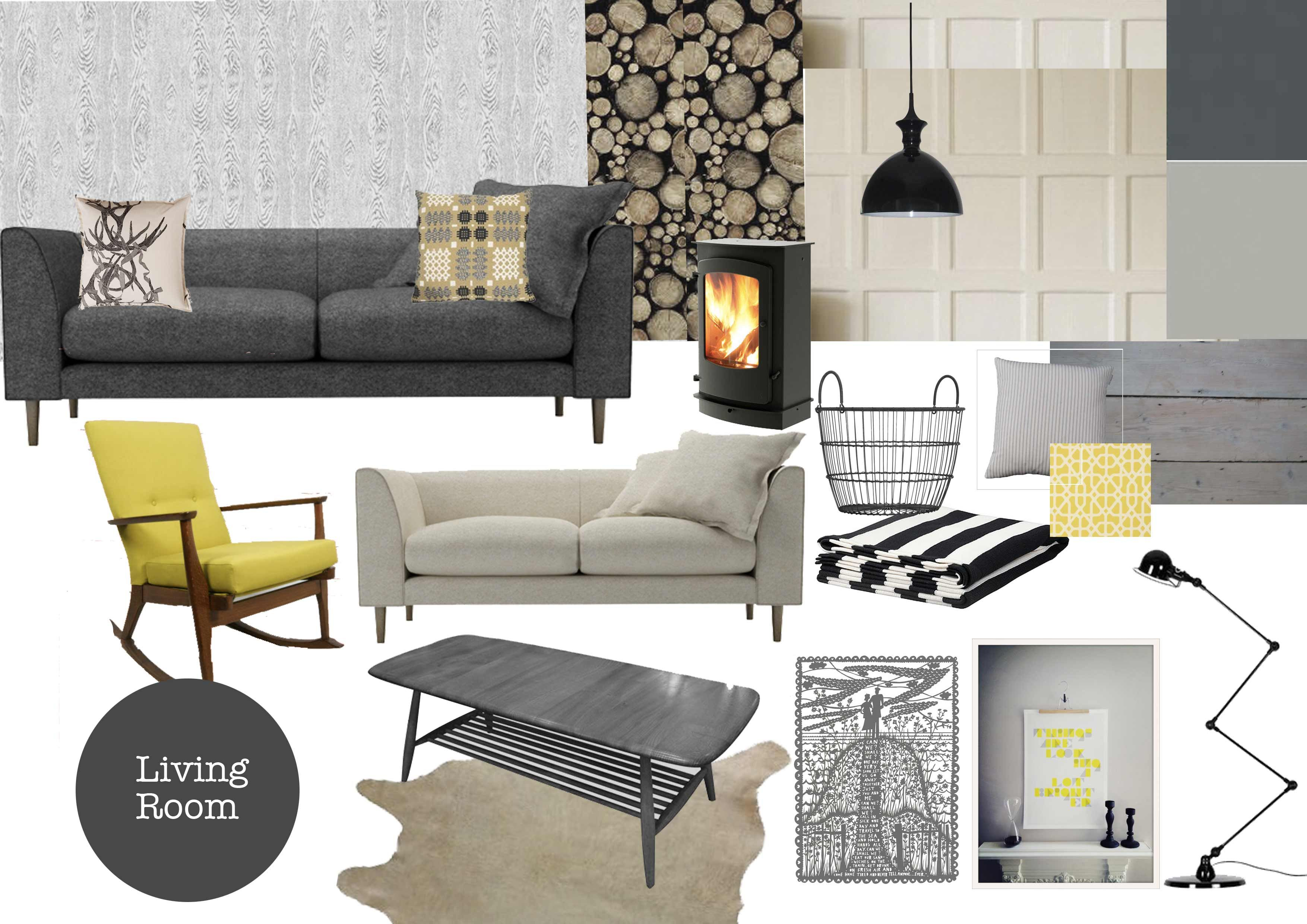 Warm And Cozy Dining Room Moodboard: Plans For The Living Room
