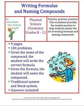 Writing Formulas and Naming Compounds Homework | Chemical Equations ...