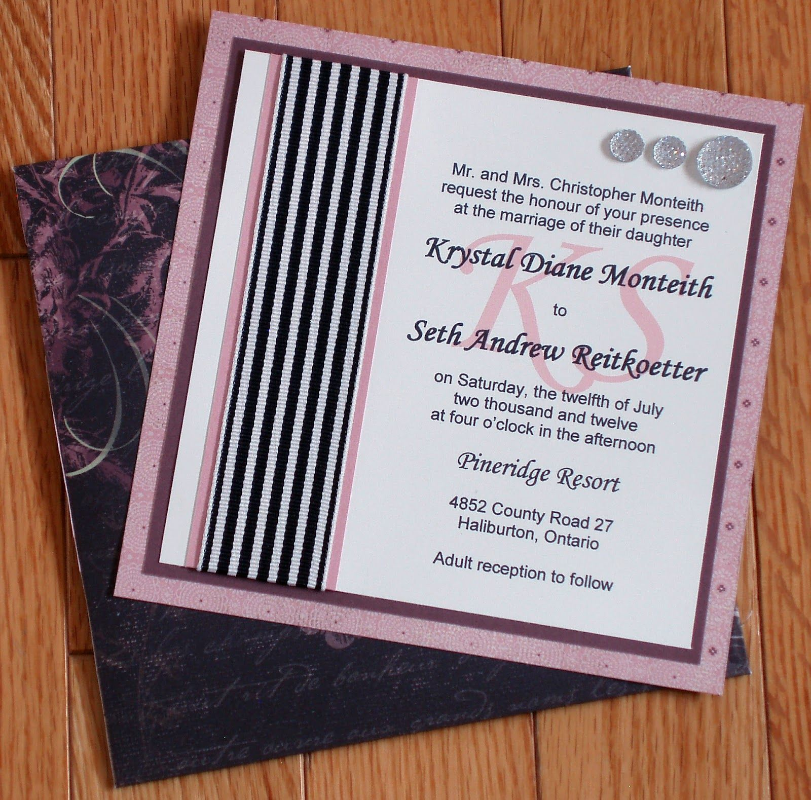 post wedding party invites wording%0A Wedding items by Alyson Mayo     Formal Invitation and RSVP card  napkin