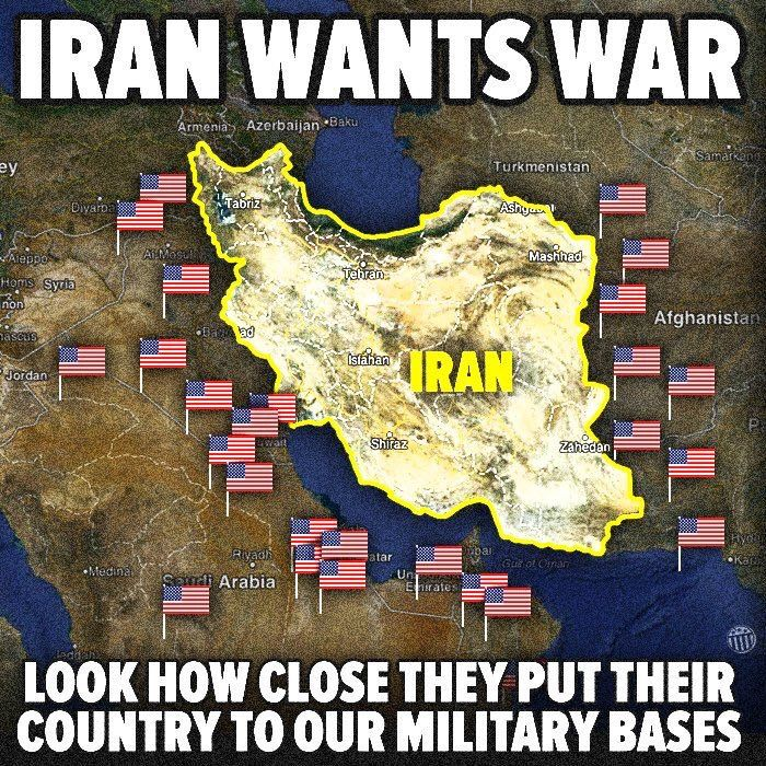 Guess Iran wants war look at how they moved their country in n act