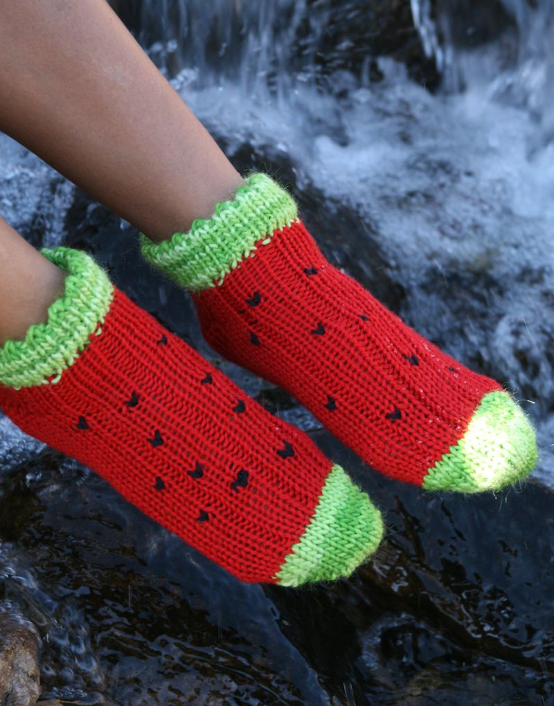 A fresh, shorty pair of socks to wear around the house or while ...