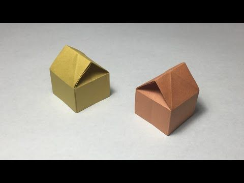 How to make a paper 3D House / Origami 3D House / tutorial / instruction - YouTube