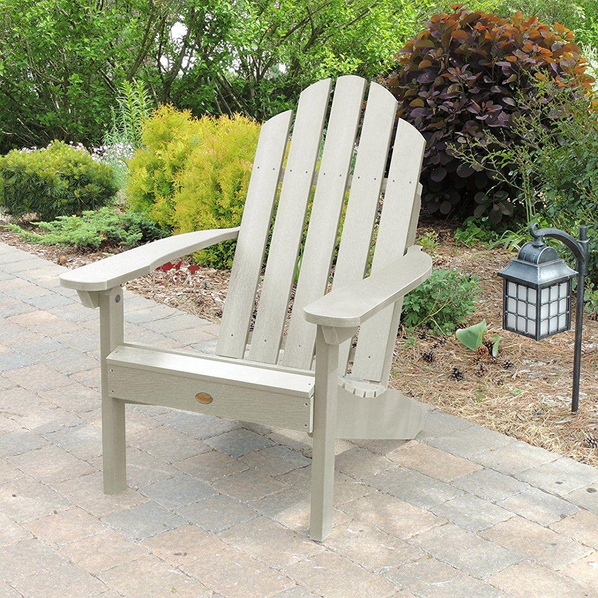 Bon Highwood Classic Westport Adirondack Chair, Whitewash