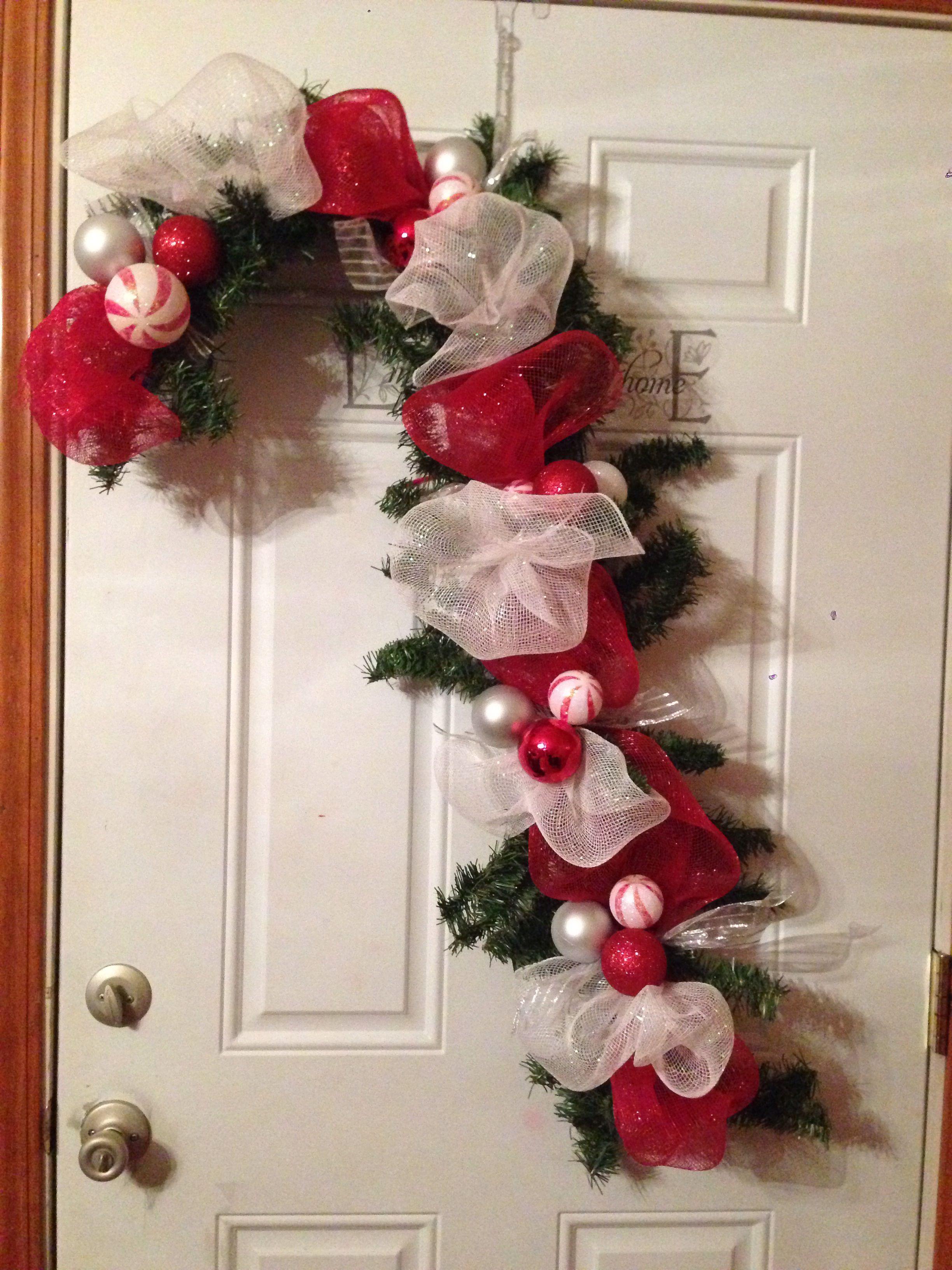 Candy Cane Christmas Decor For Outdoor Columns Christmas Wreaths